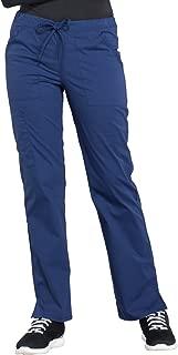 Cherokee Workwear Professionals WW160 Women's Mid Rise Straight Leg Drawstring Pant