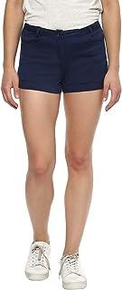 Ritu Kumar Women's Cotton Shorts(SHOCLTW00N15567592__Navy)