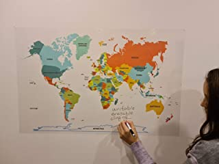 FantasticPaper Geography Set, Detailed Color and Colorless World Map and USA Maps, Easy to Use and Draw, Recyclable Activi...