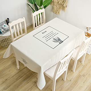 Oblong Simple Style Patterned Table Cloths Simple Cotton and Linen Modern Table Cloth for Dining Kitchen Party Table Cover...