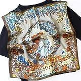 GSDJU Bufanda de satén, para mujeres, bufanda, cuello, suave, regalo, bufanda de seda pura para damas Desert Camel Print Square Bufandas de cabeza pequeña Pañuelo al por mayor Hijab Wraps 53 x 53 cm