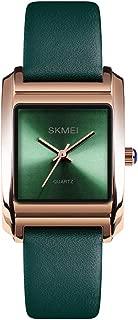 Green Watch Women Leather Band Elegant Womens Luxury Quartz Watches Ladies Business Wristwatch reloj de Mujer