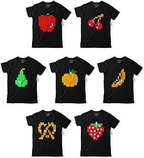 e17e295e0 8bit Pac Fruit Video Game Matching Group Team Halloween Costume Customized  Handmade T-Shirt Hoodie