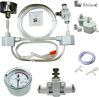 Rhinox DIY Pressurized CO2 System, CO2 Generator Kit, Includes Caps, Valves, 3-Way..