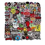 Sticker Pack 100-Pcs Adesivo Rock And Roll,Cool Adesivi per Laptop MacBook Moto Graffiti Patch Skateboard autoadesivi paraurti Hippie Decals Bomba Impermeabile(Rock And Roll)