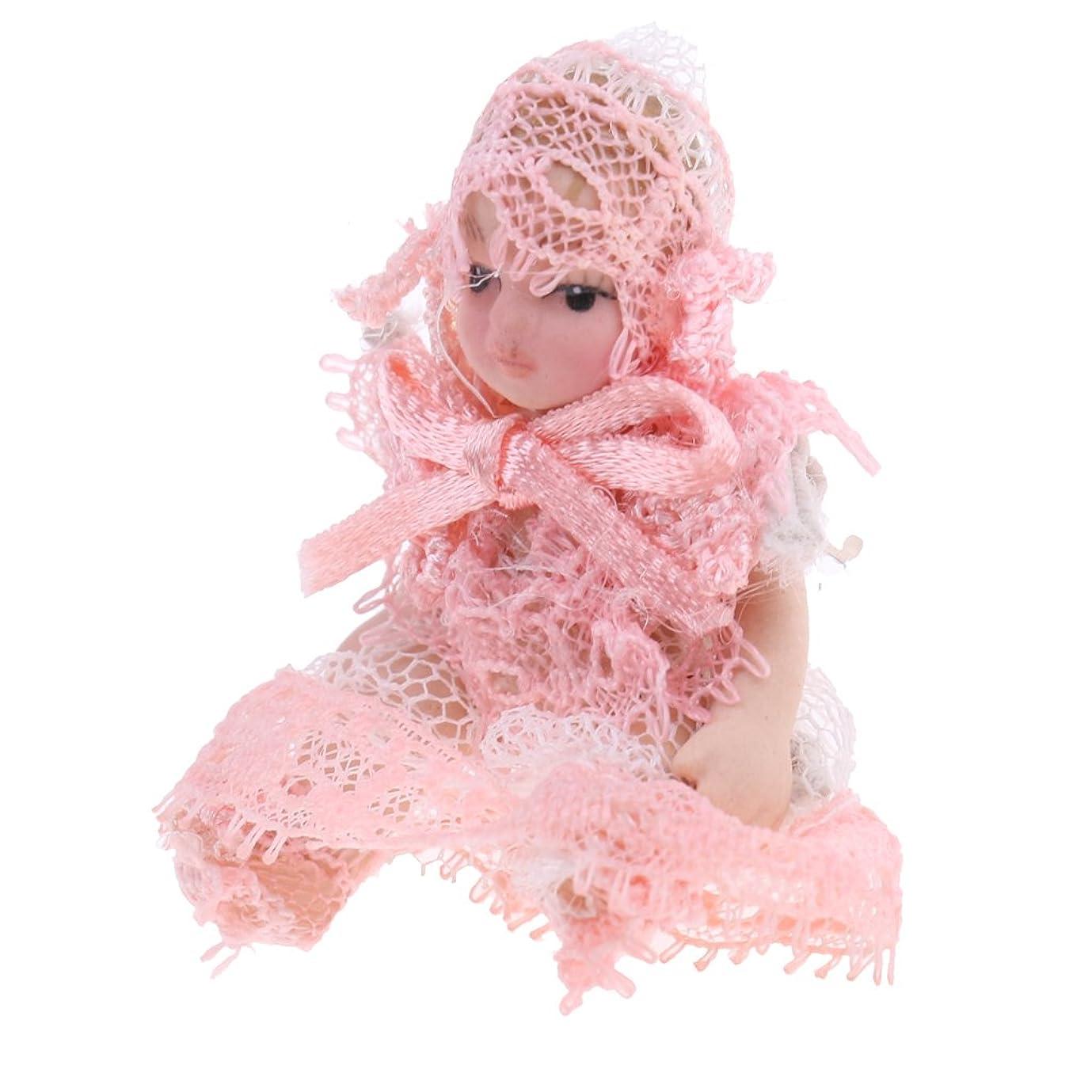 メルボルンホラー救急車赤ちゃん 子供人形 磁器 ドレス 1/12スケール ミニチュア ドールハウス 装飾 アクセサリー