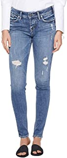 Silver Jeans Co. Women's Suki Curvy Fit Mid Rise Skinny...