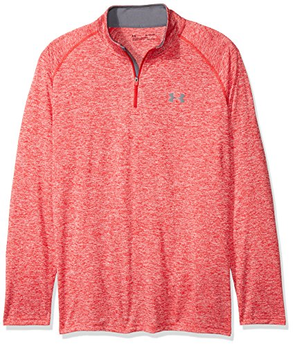 Under Armour T-Shirt manches longues Homme UA Tech 1/4 Zip, Rouge (Red), 3XL, 1242220-600