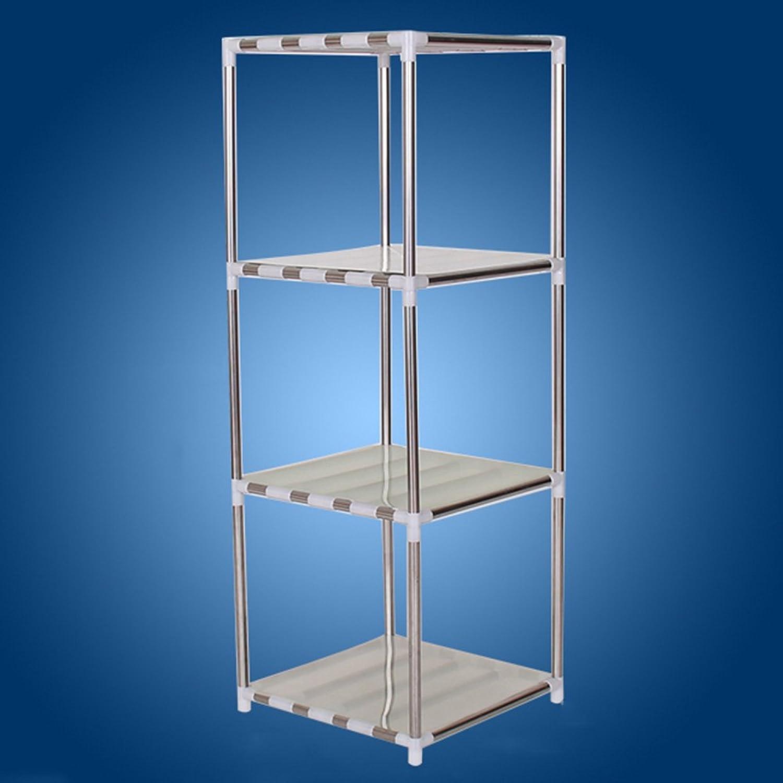 ZZHF yushizhiwujia Storage Racks Multi-Layer Stainless Steel Storage Rack Floor-Standing Bathroom Washbasin Storage Rack (Size   98  35  35CM)