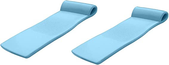 product image for Texas Recreation Sunsation 70 Inch Foam Raft Lounger Pool Float, Blue (2 Pack)