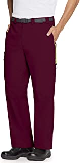 بنطال رجالي Code Happy Men's Happy Men's Straight Leg Belted Cargo Pants Medical Scrubs Pants