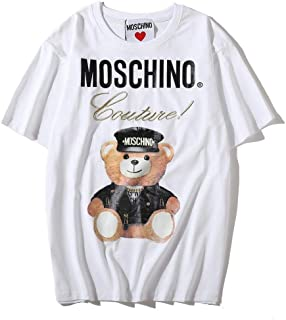 Moschino White Bear Short Sleeve T-shirt Lady Tee White For Women and Girl
