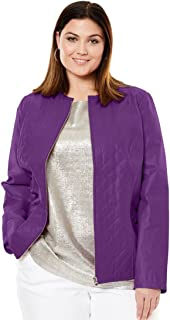 2c2ca7bc852 Jessica London Women s Plus Size Quilted Front Jacket