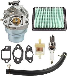 Hippotech carburador con Junta Spark Plug Fuel Air Filter Kit para Honda GCV160 GCV160A GCV160LA HRB216 HRS216 HRR216 HRT216 HRZ216