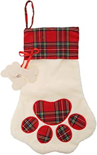 LO LORD LO Christmas Stocking for Pet Dog Cat Large Paw Stocking for Personalize