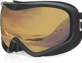 devembr OTG Snow Goggles,Ski Goggles Anti-Fog, Snowboard Goggles 100% UV Protection, for Men Women Skiing Snowmobile Skating