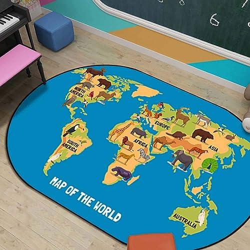 diseño simple y generoso Zmymzm Alfombra para Niños, oceánica oceánica oceánica con del Mundo Mapa Alfombras, 60 cm  90 cm  orden en línea
