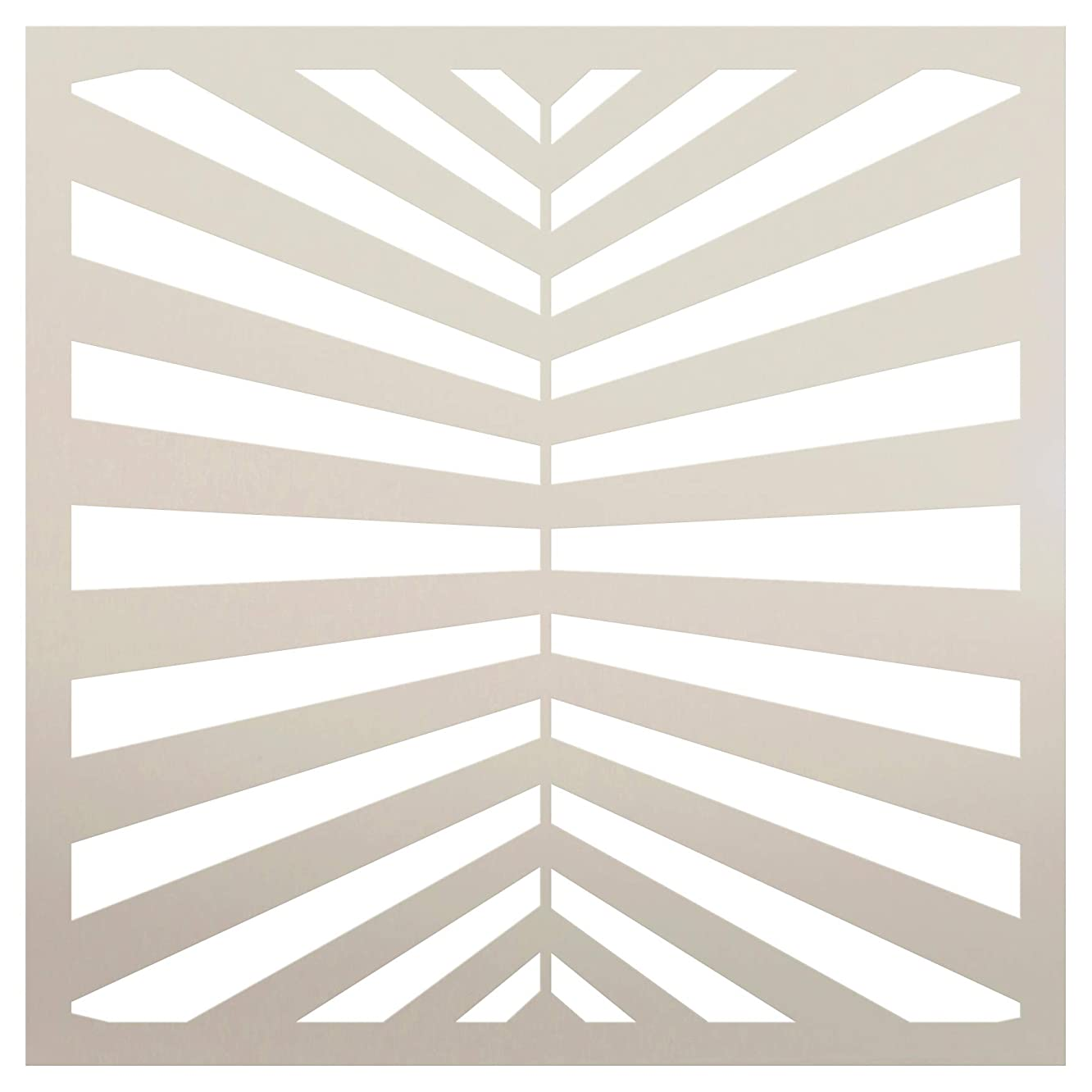 Fun with Stripes Multimedia Perspective Stripe Stencil StudioR12 | Wood Sign | Reusable Mylar Template | Wall Decor | Multi Layering Art Project | Journal Art Deco | DIY Home - Choose Size (9