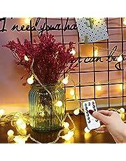 Led-lichtsnoer voor buiten, 10 m, 100 leds, bollen, lichtketting met afstandsbediening, 8 modi en timingfunctie, USB-bollen, lichtketting voor buiten, binnen, perfect voor tuin, feesten, IP44 waterdicht, warm wit