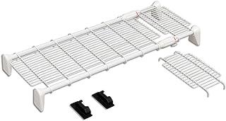 アイリスオーヤマ つっぱり棚 突っ張り棚 つっぱり棒 棚 伸縮棚 突っ張り 超強力 メッシュ ワイド 幅75~115cm ホワイト H-J-WM70