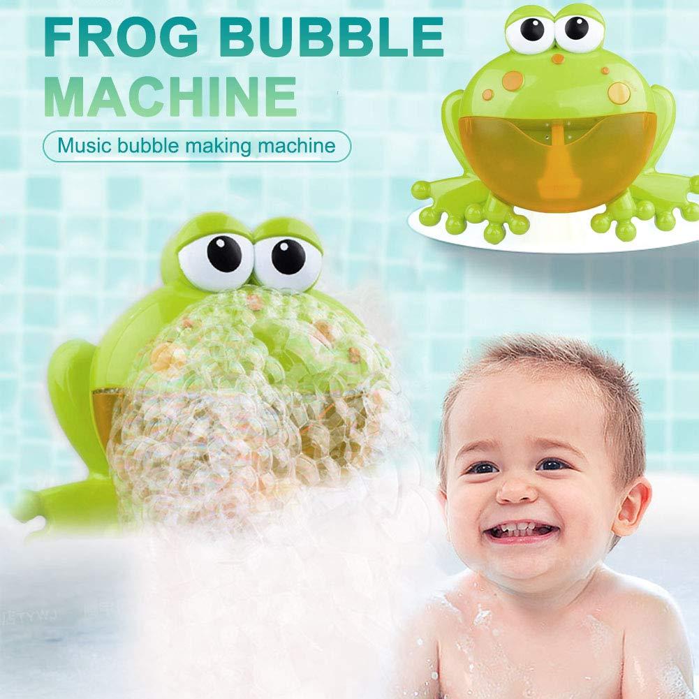 12 Songs Frog Bubble Machine Automatic Bubble Maker Blower Bath Bathtub Kids Toy