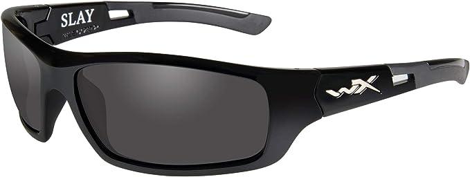 Wiley X Omega Matte Black Frame Polarized Green Platinum Flash Lenses