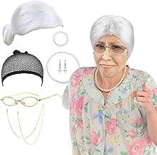 cristales transparentes Gafas de abuela en forma de media luna para disfrazarse