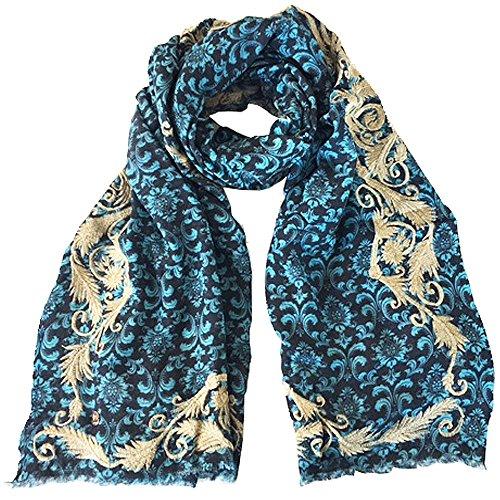 Cute Stuff Vivienne sjaal met kasjmier en borduurwerk, ca. 200 x 90 cm.