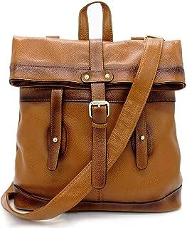 Women's Genuine Leather 3-way Convertible Backpack Shoulder Crossbody Bag Tote Purse Rucksack