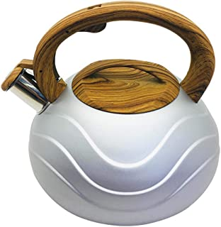 YYXLL Caldera De Té De 3 litros De Inducción Moderna Silba del Acero Inoxidable Tetera -Tea Olla De Caldera Superior De La Estufa De Camping Al Aire Libre Uso