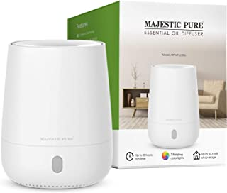 MAJESTIC PURE USB Essential Oil Diffuser, Portable Aromatherapy Diffuser, Travel Size, Auto Shut-off for Spa Room, Home, Office, Bedroom - BPA Free, 120 ml