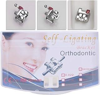 Anhuadental Orthodontic Self-Ligating Metal Bracket 0.022 Roth 345 with Hooks(20 Brackets/Pack)