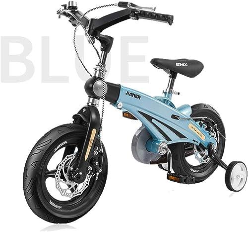 A la venta con descuento del 70%. 14IN Bicicleta para Niños, Manillar Plegable de 180 ° ° ° aleación de magnesio Marco retráctil Asiento Ajustable en Altura de la manija Neumático de Goma Ligero  venta de ofertas