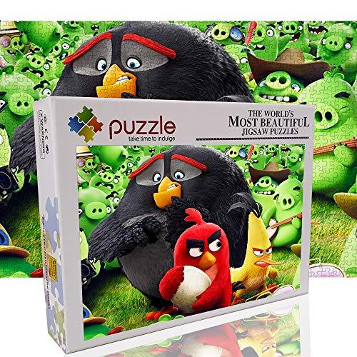 Rompecabezas para Adultos 1000 Piezas Rompecabezas de Juguete Educativo Angry Bird Juegos Divertidos para Padres e Hijos (70x50cm / 27.6'x19.7)