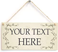 Personalised Posh Vine Frame Your Text Here Sign - Custom