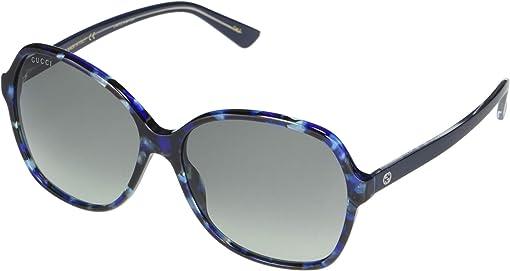 Blue/Violet/Tortoise