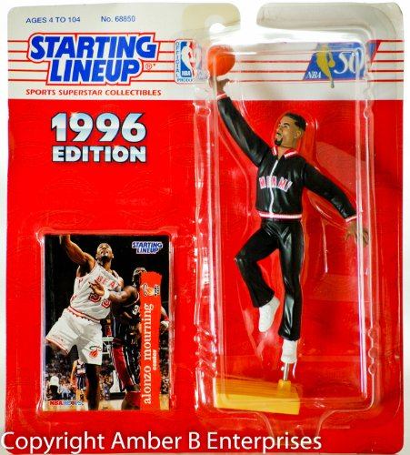 1996 - Kenner - Starting Lineup - NBA - Alonzo Mourning #33 Action Figure - w/ Trading Card - Miami Heat - Out of Production - New - Limited Edition - Collectible