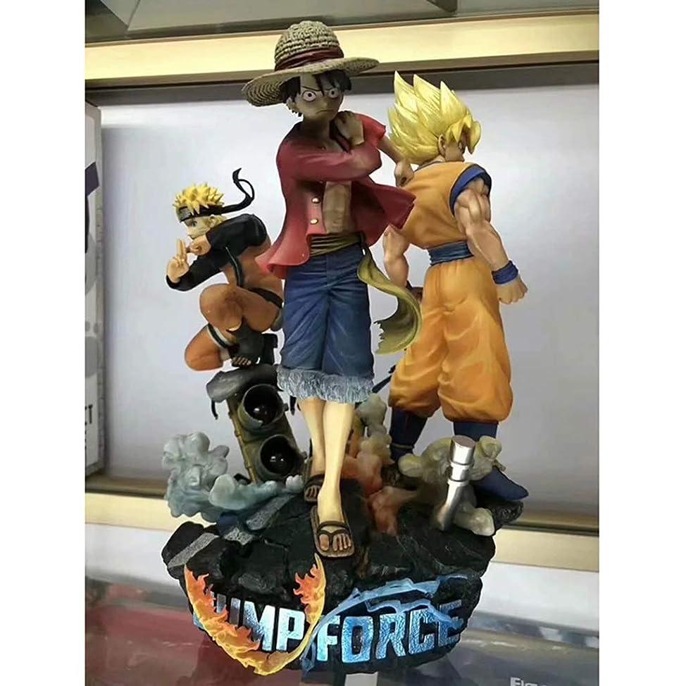 アレイ繰り返し配偶者PVCアニメドラゴンボールモデル、3人の主人公、アニメ像、子供用おもちゃコレクションの像、デスクトップ装飾玩具像玩具モデル(18cm) SHWSM