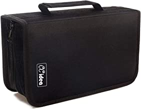 128 Capacity CD/DVD Case Holder, Storage, Binder by CCidea (Black)