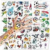 Konsait Fußball Tattoos Kinder, Temporäre Tattoos Kinder Aufkleber Sticker für Junge...