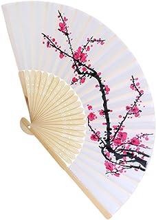 MagiDeal Blossom Fächer japanischen Faltbare Handfächer Klappfächer Hochzeit Dekor