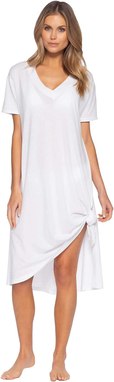 Becca by Rebecca Virtue Women's Burnout Midi T-Shirt Dress Swim Cover Up