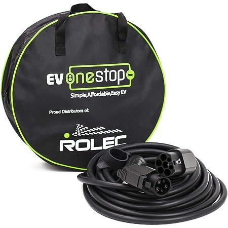 Ev Onestop Simple Affordable Easy Ev Ladekabel Für Elektrofahrzeuge Elektrofahrzeuge Typ 1 Bis Typ 2 32 Ampere 7 2 Kw 5 Meter Kostenlose Tragetasche Auto