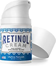 LilyAna Naturals Retinol Cream for Face - Made in USA, Retinol Cream, Anti Aging Cream, Retinol Moisturizer for Face and N...