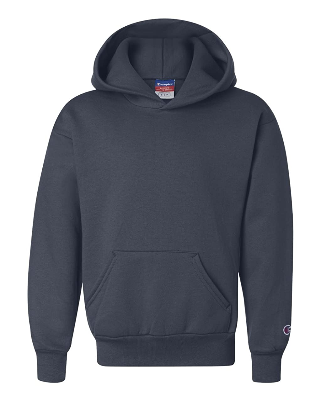 Champion Boys Youth Double Dry Action Fleece Pullover Hood(S790)-Navy-XL