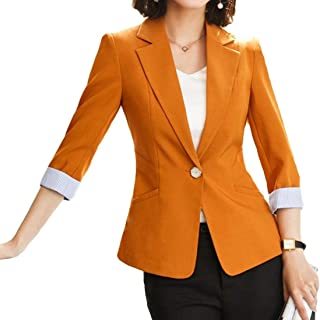 Howely Women One Button Trim-Fit Office Work Blazer Jacket Coat