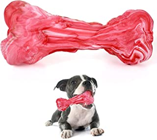 Kaqulec [2019 Update Durable Dog Bone Chew Toy Puppy Indestructible Toy Molar Tooth Cleaning and Safety Chewing Toy Resistant Dog Bite Rubber Dog Chew