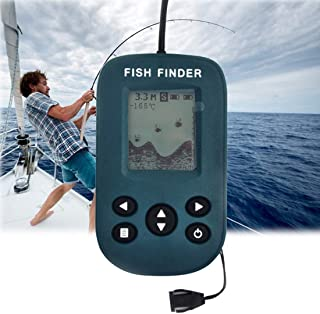 Fish finder Outdoor 200KHz Sonar Sensor 0.7-100m Depth Wired Sounder Alarm with LCD Display,YDH-01 interesting Dear-You