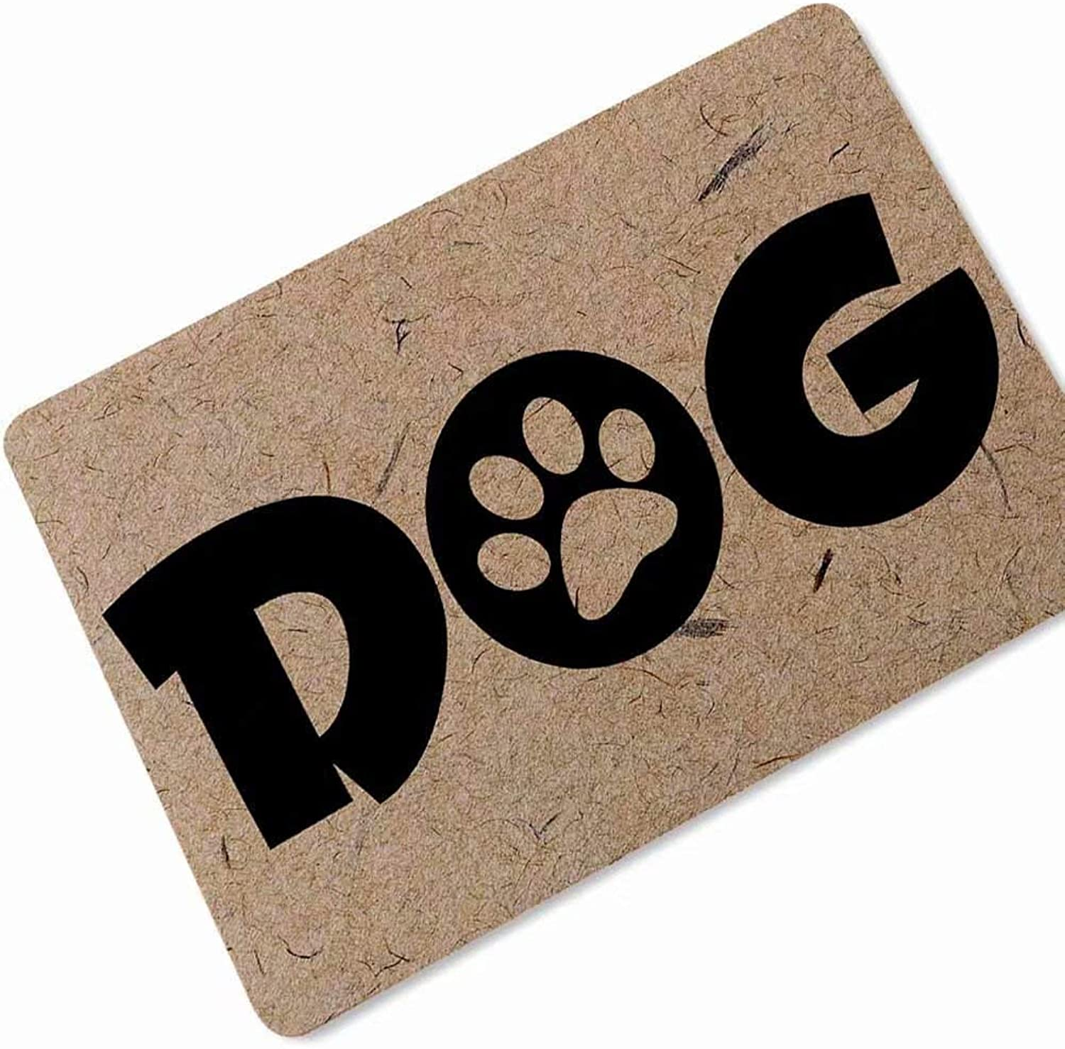 YQ Park Rubber Collection Doormat, Rubber Backed Mat Dog Paws Rug 23.6x35.4