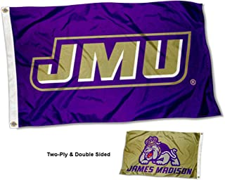 College Flags & Banners Co. James Madison Dukes Dual Logo Double Sided Flag
